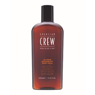 "GEL DOUCHE DEODORANT 24H "" AMERICAN CREW"" flacon 450ml"