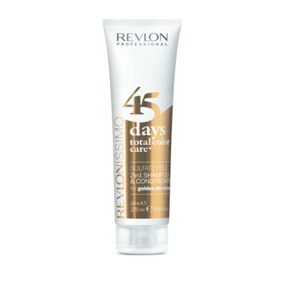 45 DAYS GOLDEN BLONDES Shamp/condi REVLON tube 275ml