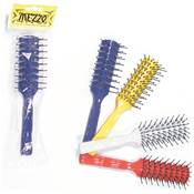 Brosse Afro 7 rangs brin perlé Double coul. ass.